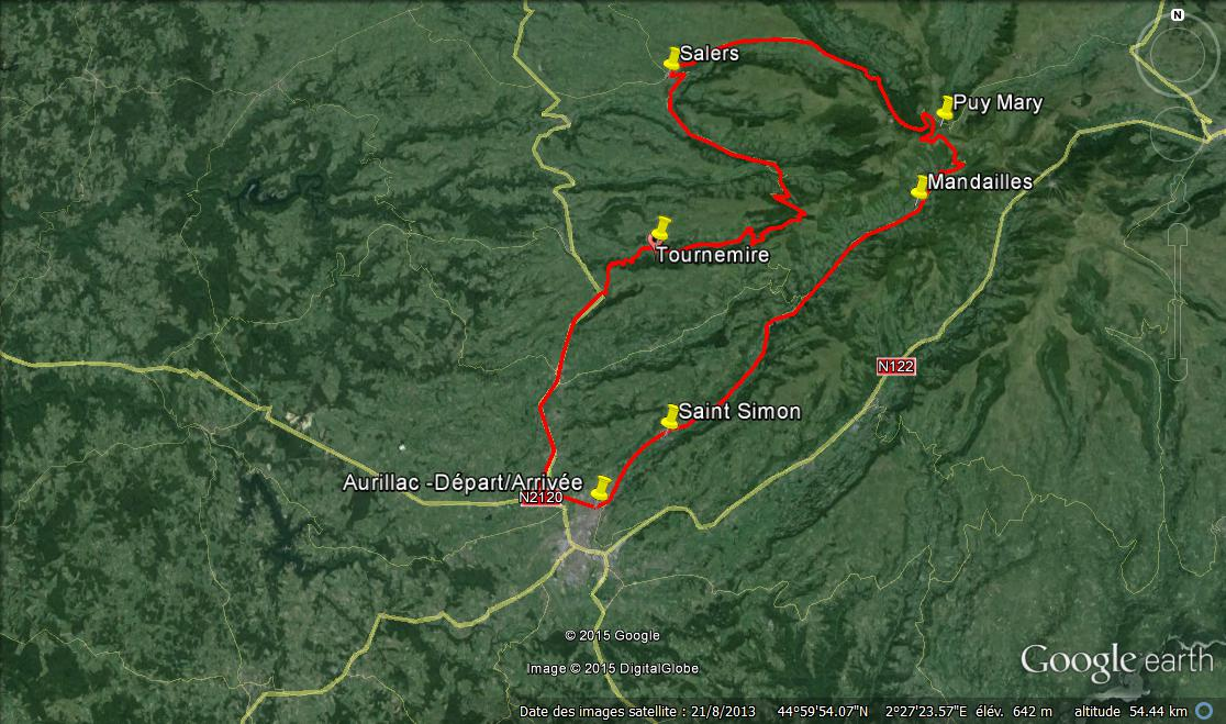 Puy Mary / Salers — 119kms